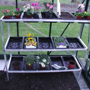Image for 3 Tier Aluminium Seed Tray Greenhouse Stand